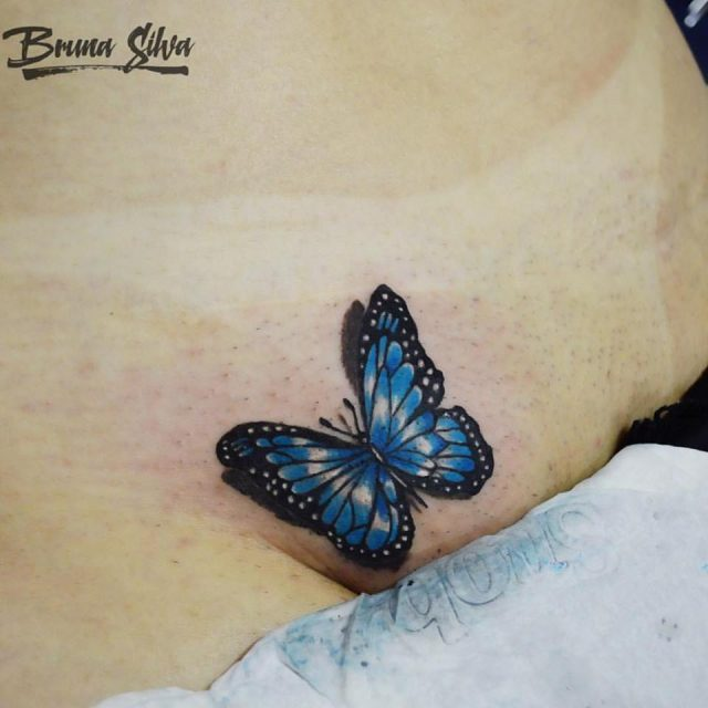 Tatuagem Feminina na Virilha