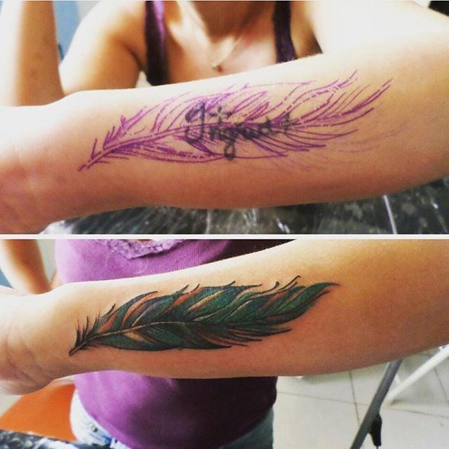 Tatuagem Feminina De Pena Tattoomenu